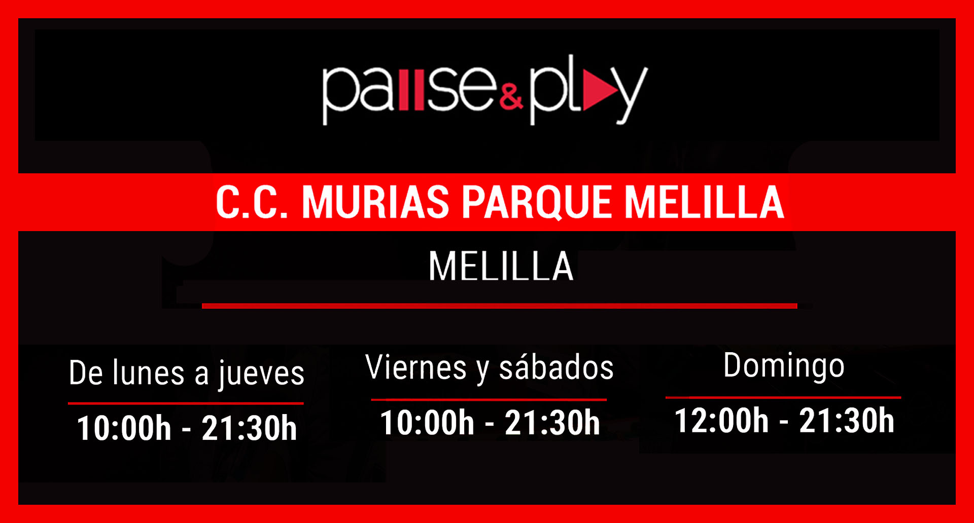 Pause&Play Nuevo Horario